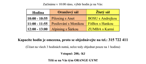 Orange Gym Maraton